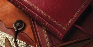 Leather book-binding