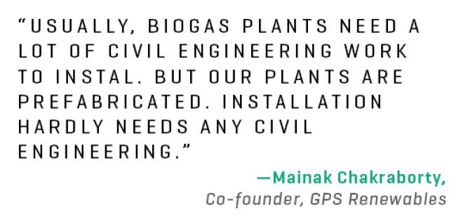 How to shrink a biogas plant