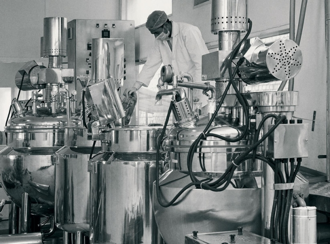 Forest Essentials' pharma-grade, fully automated manufacturing line.