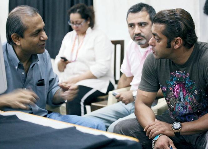 Basu with Salman Khan.