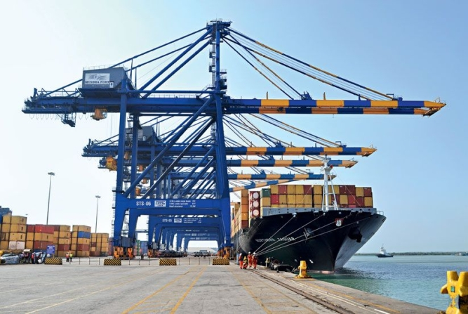Mundra Port is India's largest private port and handled 52 million tonnes of cargo in 2010.