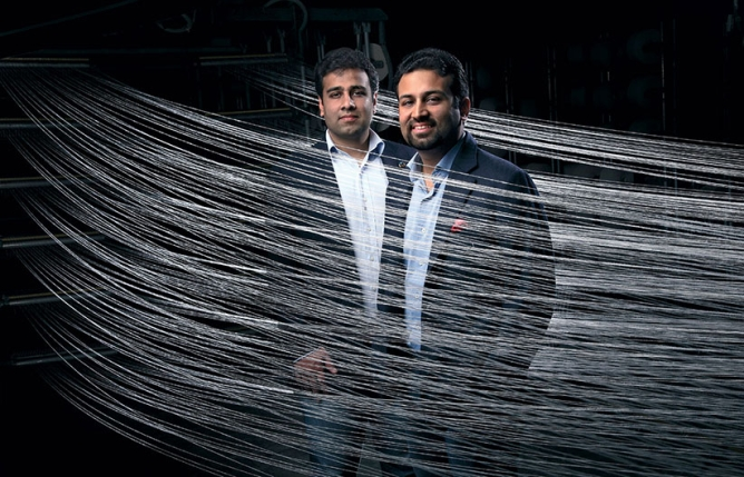 THE BROTHERS LALBHAI: Punit (left) and Kulin have been each given a business to prove their competence.