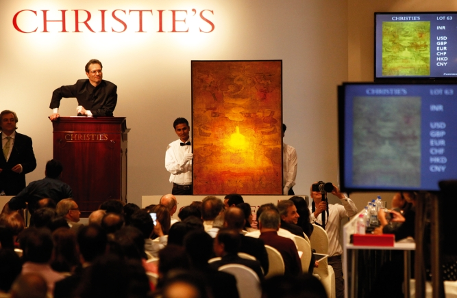 Led by the demand for works of artists such asV.S. Gaitonde, Indian art auctions notched up Rs 609.3 crore in sales in 2016 .