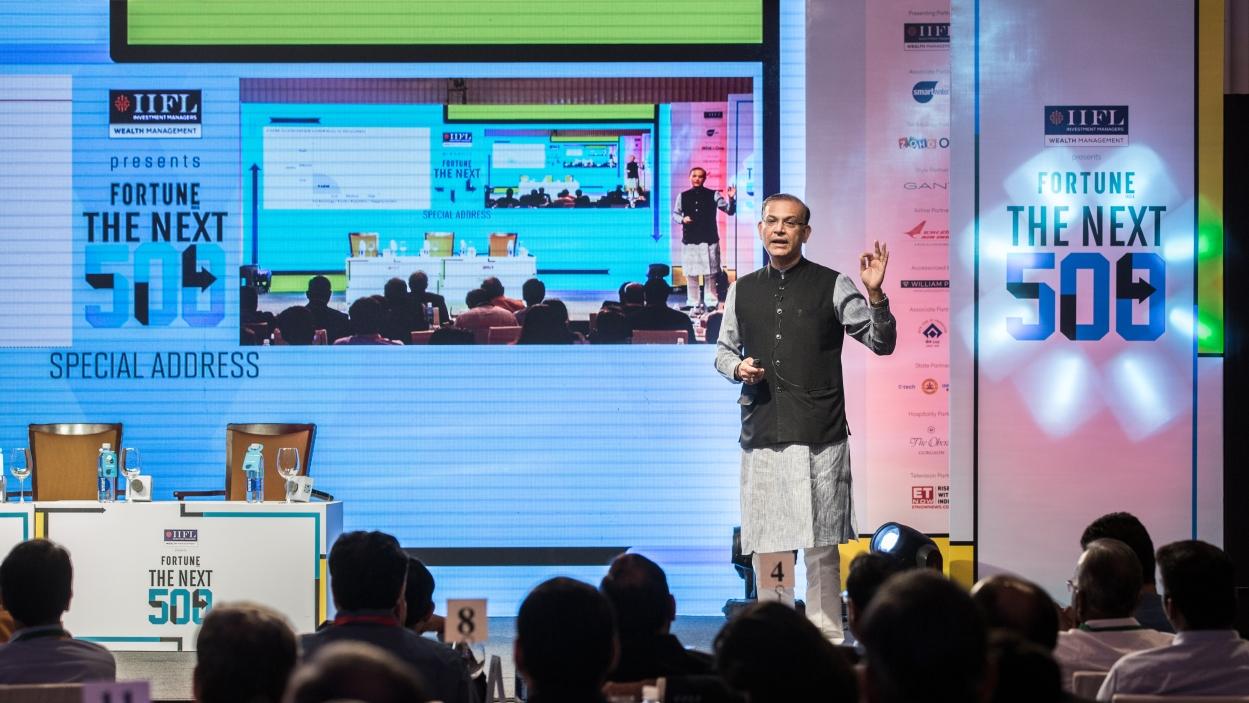 Jayant Sinha presents new development model for India