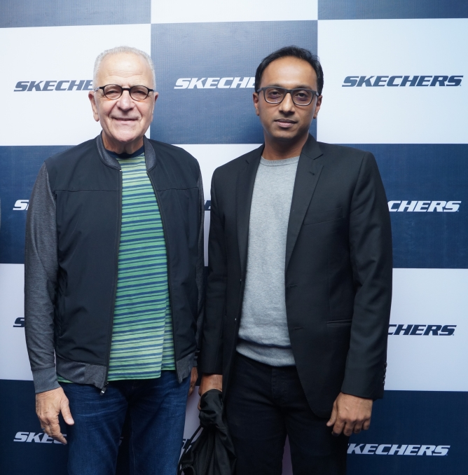 Marvin Bernstein, managing partner, Skechers S.a.r.l (left) and Rahul Vira, CEO, Skechers South Asia