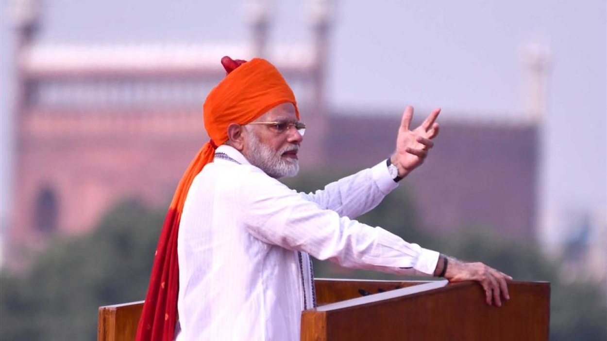 PM Modi invokes development in Independence Day speech