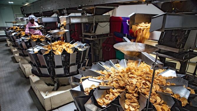 Prataap Snacks' factory in Indore.
