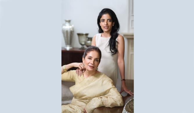 Mira Kulkarni, founder of Forest Essentials with daughter Diviya Chawla