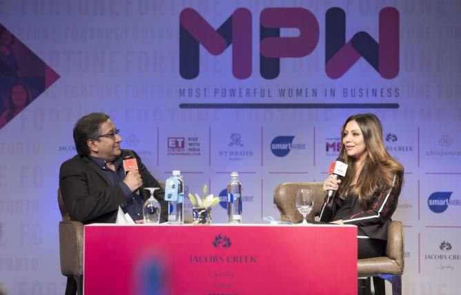 Sourav Majumdar in conversation with Gauri Khan.