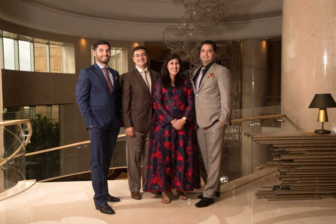 From Left: Zayd Noaman, executive director - CMD's Office, Prestige Group, Zaid Sadiq, executive director, Liaison & Hospitality, Prestige Group, Uzma Irfan, director, Prestige Group, and Faiz Rezwan, executive director, Contracts and Projects, Prestige Group.