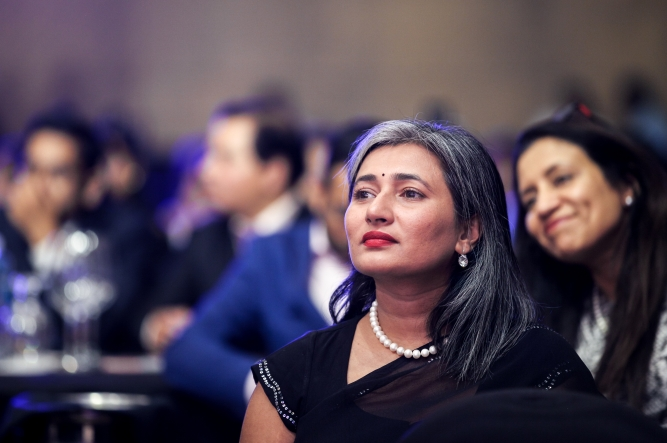 Schauna Chauhan, CEO of Parlé Agro at the summit.