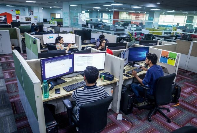 Microsoft office in Hyderabad.