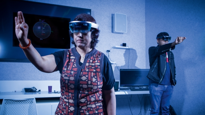 Virtual Reality lab in Microsoft's Hyderabad office