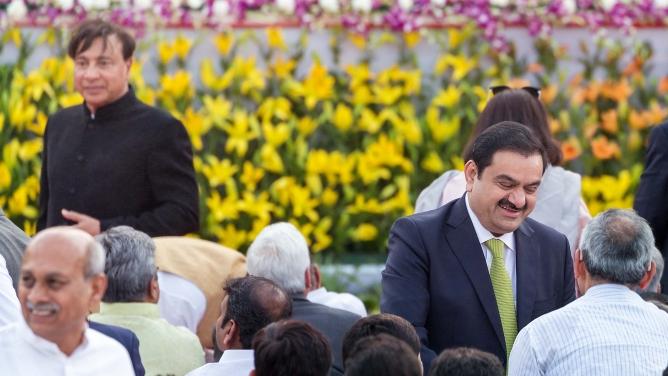 Adani Group chairman Gautam Adani and India-born billionaire Lakshmi Mittal.