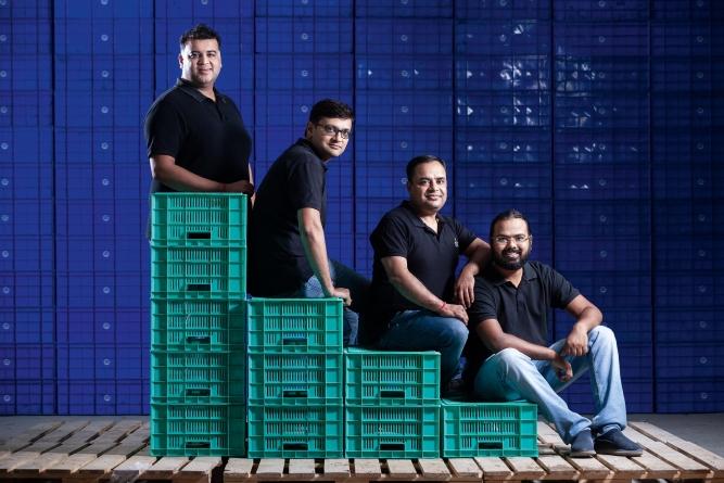 Milkbasket co-founders (from left) Anant Goel, Ashish Goel, Anurag Jain and Yatish Talvadia.
