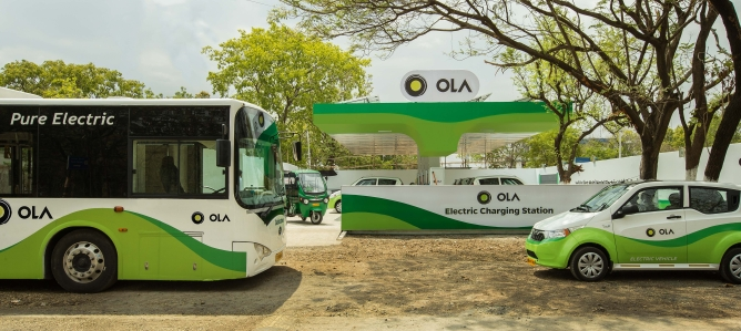 Ola Electric charging station.