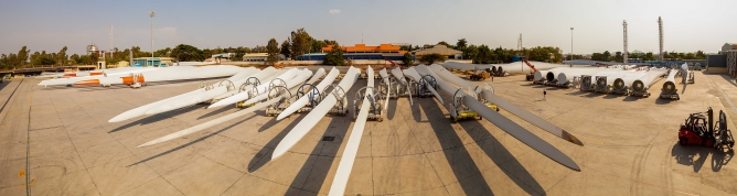 LM Wind Power Blades (India) production facility in Bangalore.