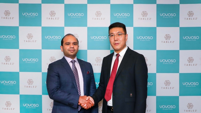 Adeeb Ahamed, MD, Tablez and Xie Wen Liang, co-founder and GM of YOYOSO.