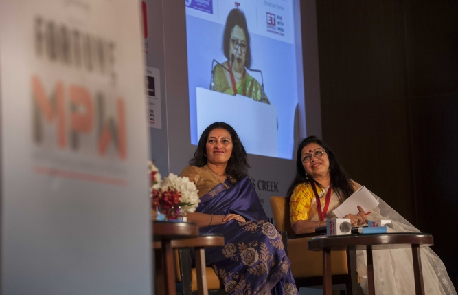 Ameera Shah, MD, Metropolis Healthcare, and Revathi Roy, founder and CEO, Hey Deedee.