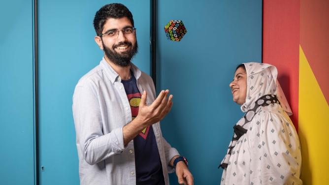 Founder Malek Shipchandler, 28, and his mother Rashida.