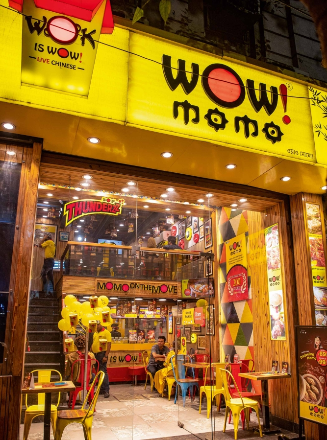 Wow! Momo outlet in Kolkata.
