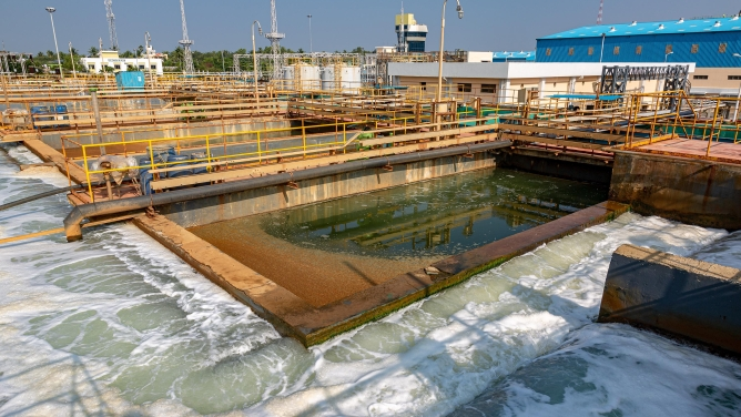 VA Tech WABAG's Nemmeli desalination plant in Chennai. It produces 110 million litres of potable water every day.