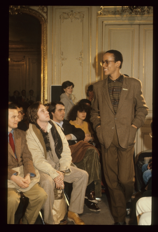 A fashion show from the 80s showcasing some of Paul Smith's iconic designs.