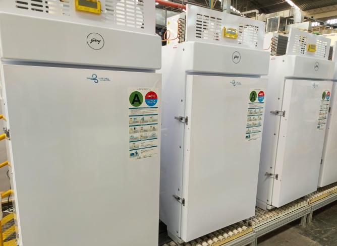 Godrej's ultra-low temperature freezers