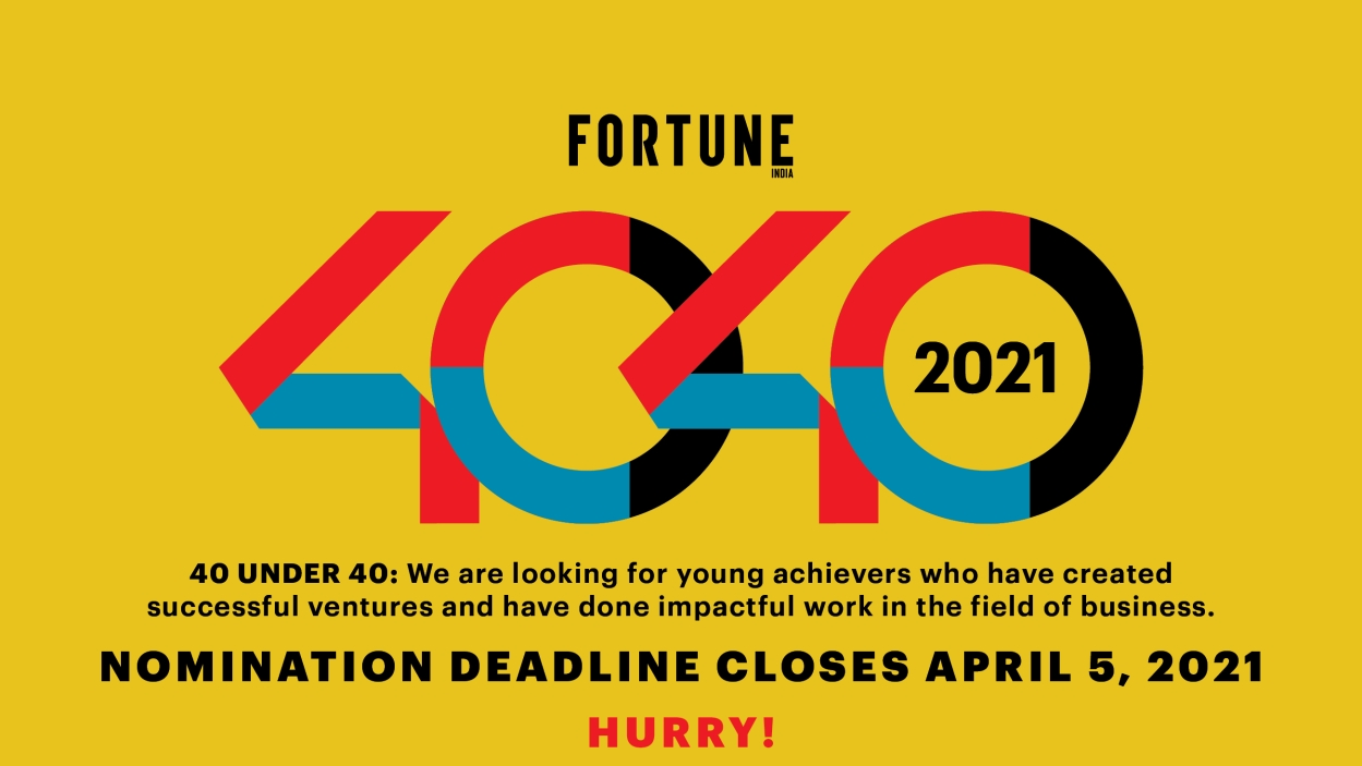 40 Under 40: Calling for entries