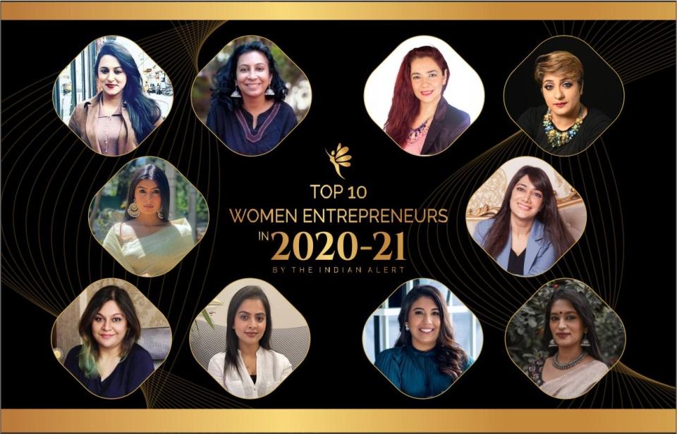 Top 10 Women Entrepreneurs in 2020-21 by the Indian Alert