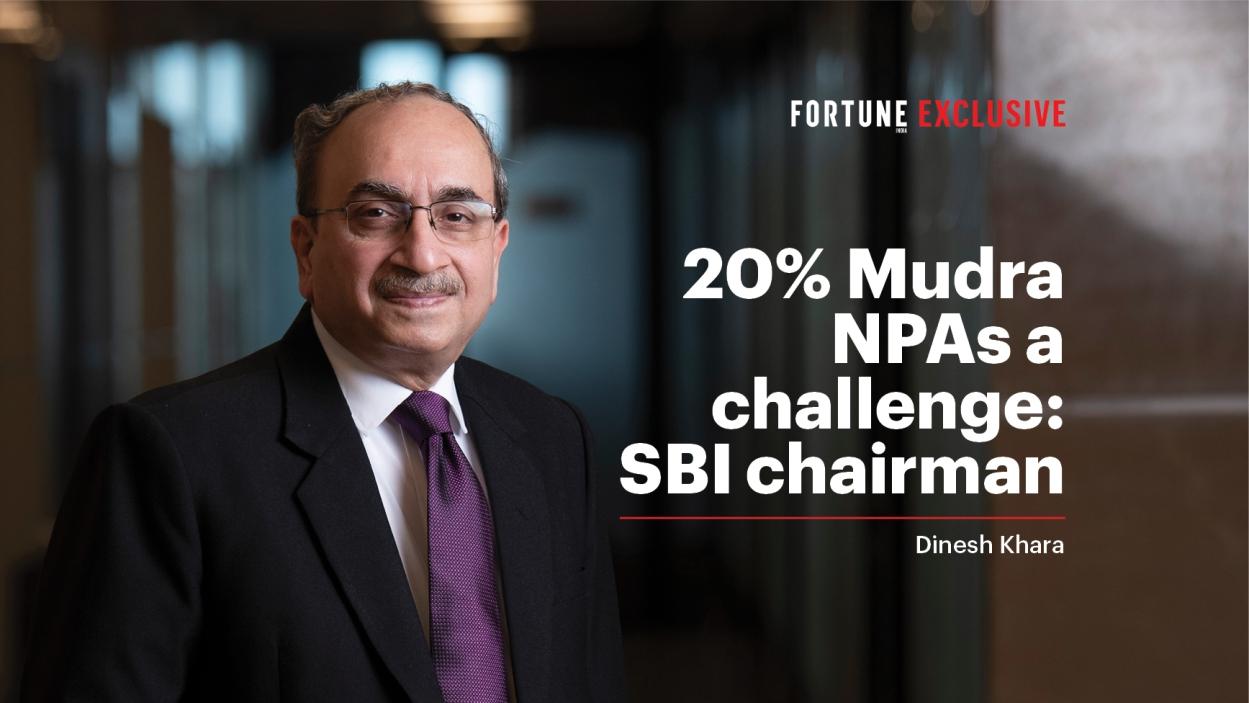 20% NPA in Mudra loans: SBI chairman