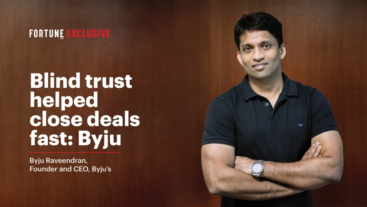 VIDEO - Blind trust helped close deals fast: Byju