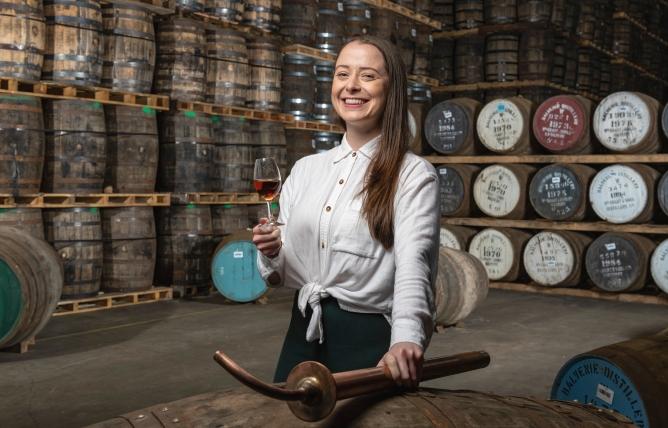 Gemma Paterson, The Balvenie's global brand ambassador, at the distillery.