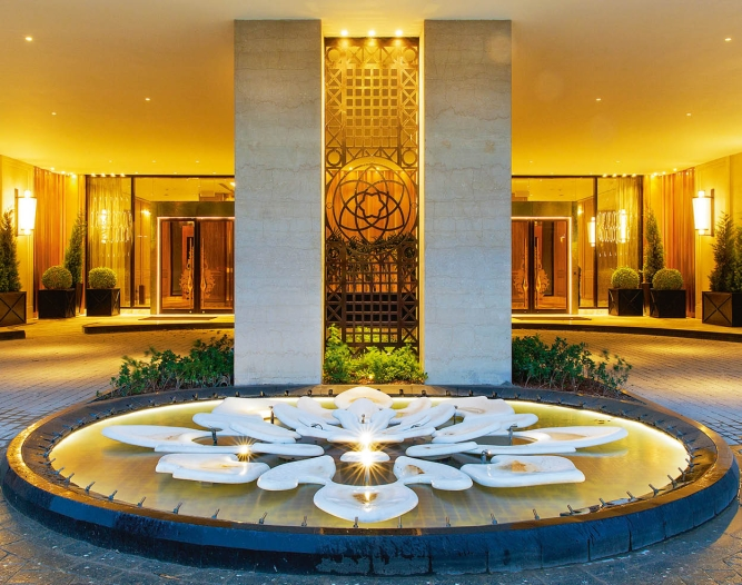 The Camellias Tower Porte Cochère, which leads to the lobby.