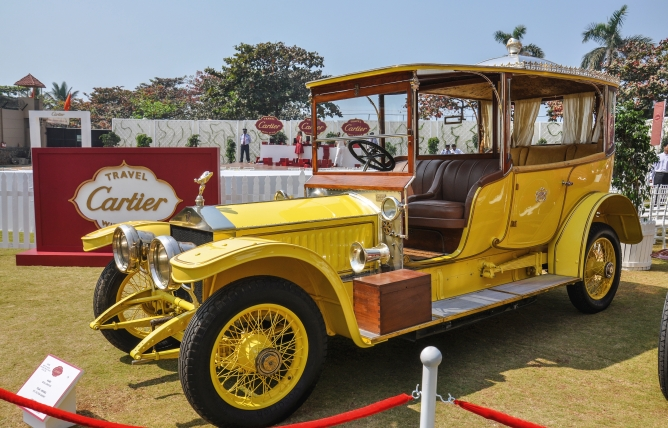 The 1912 Rolls-Royce Silver Ghost 'Throne' car of the Nizam of Hyderabad, one of the most opulent cars in the world, restored by Rana Manvendra Singh.