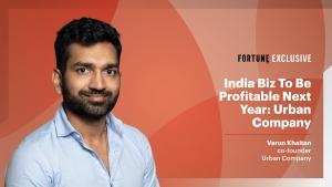 VIDEO - Plan to turn India biz profitable next year: Urban Company