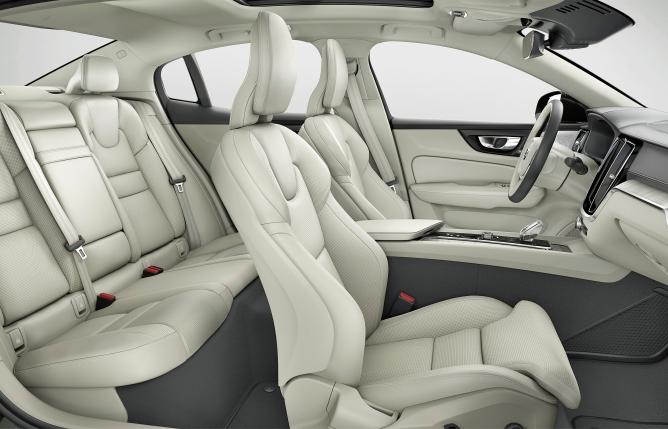 The interior of a Volvo S60 sedan