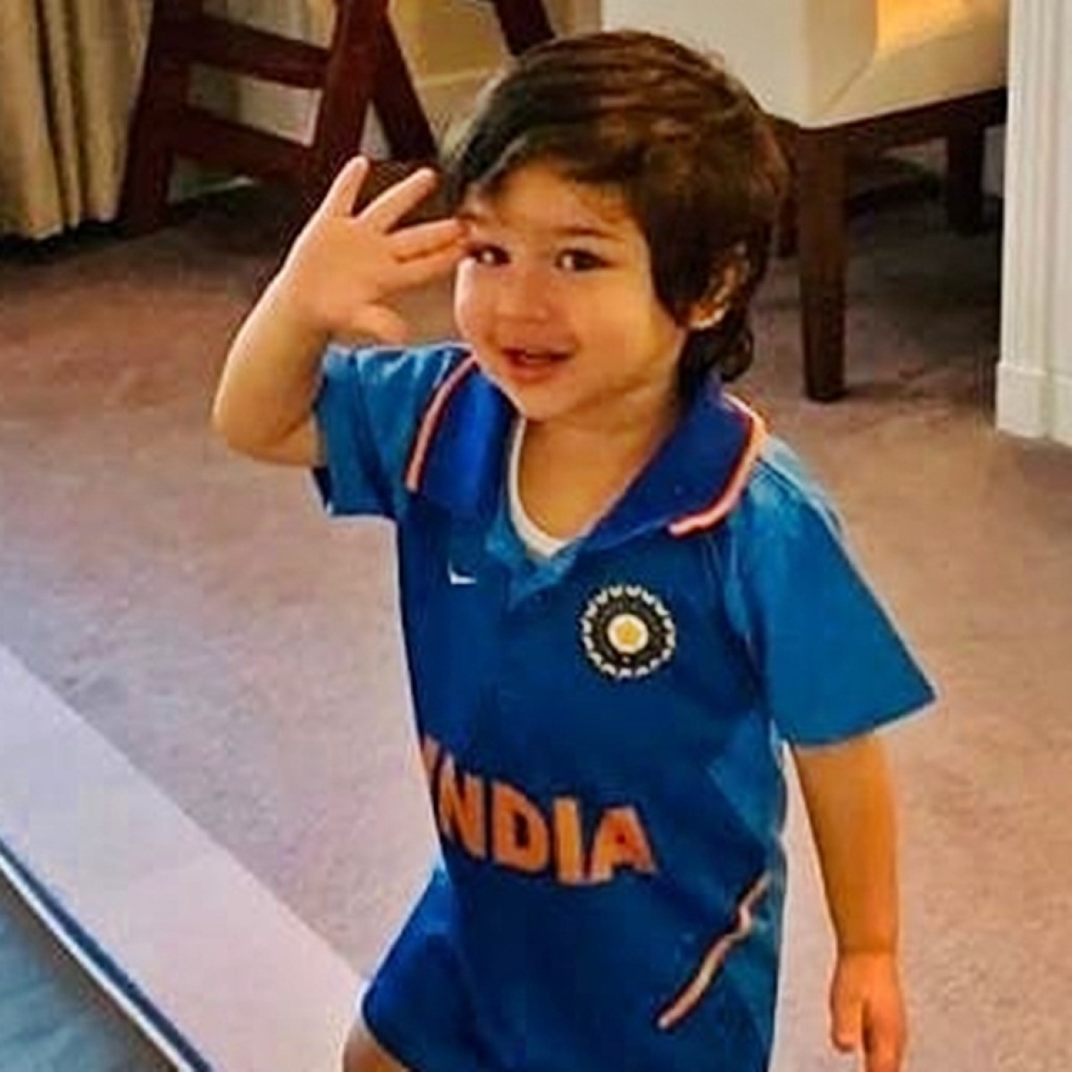 Fans going gaga over Taimur Ali Khan's picture celebrating India's victory over Pakistan