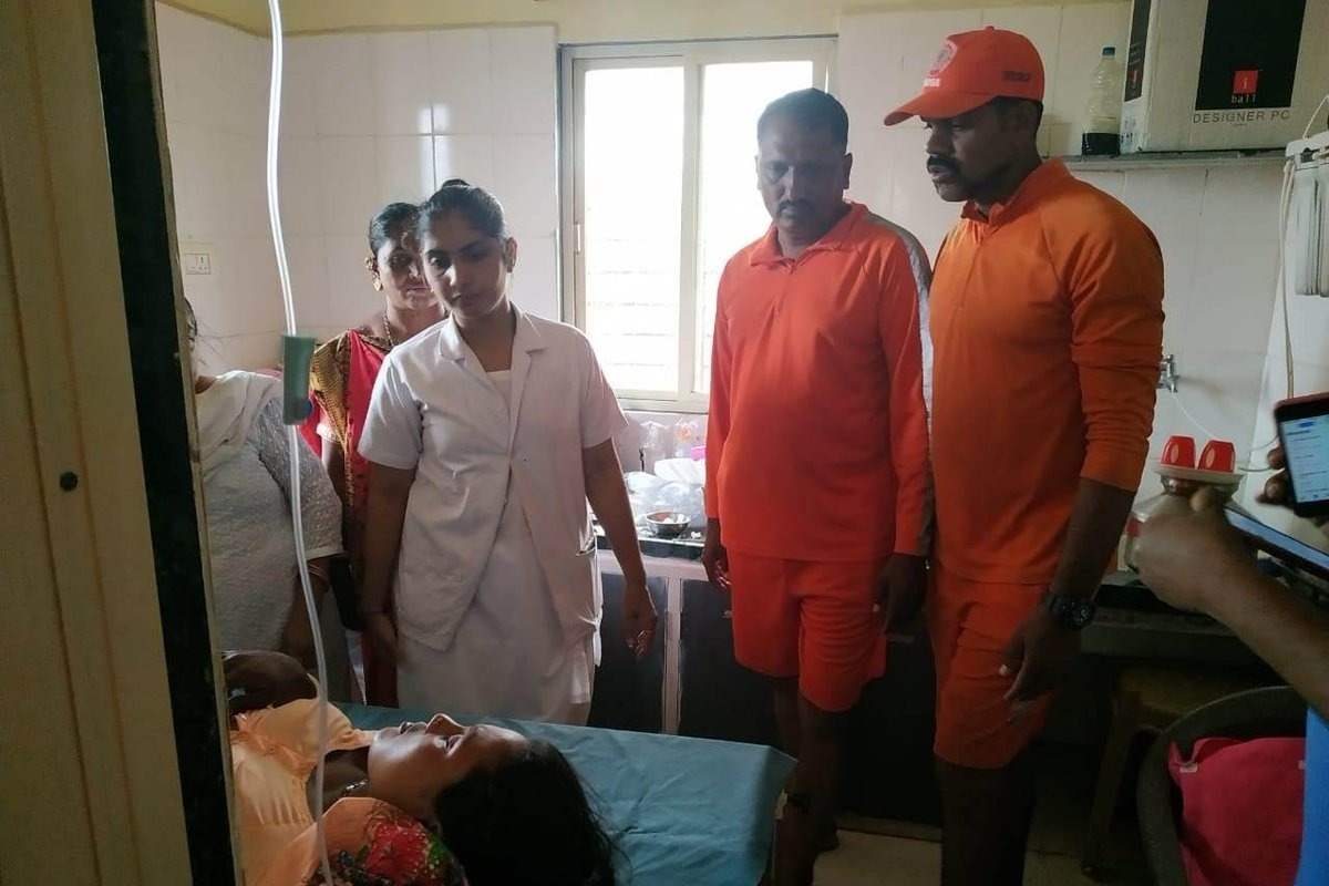 Cyclone VAYU: NDRF rescues a woman in need of a pre-term delivery from Jafarabad island off the Gujarat coast
