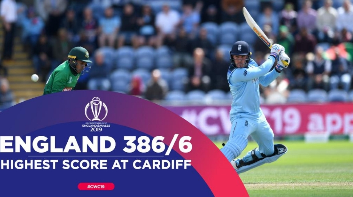 World cup 2019: Jason Roy, Jos Buttler power England to 386-6 against Bangladesh