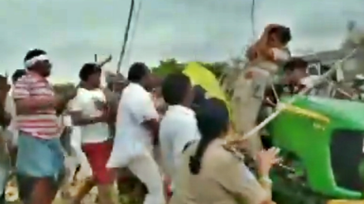 Watch Video: Woman forest officer attacked by TRS leader and workers