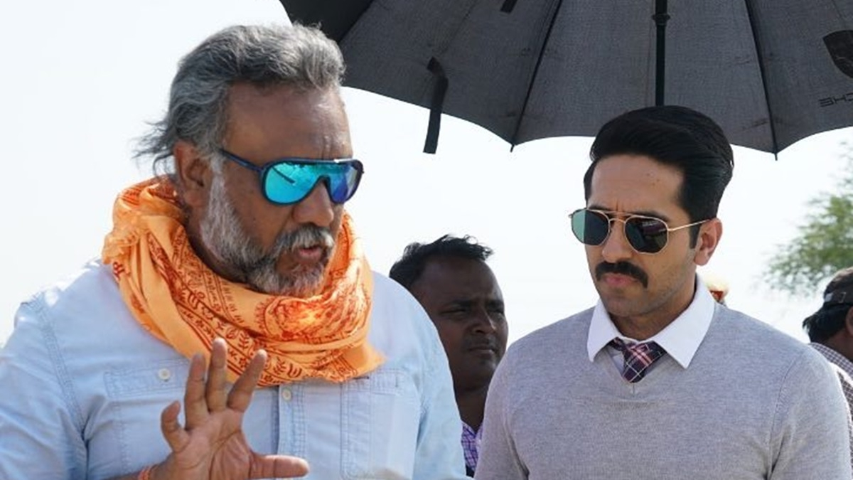 Ayushmann Khurrana (R) with  director Anubhav Sinha.