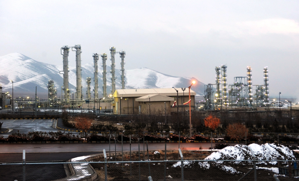 General view of the water facility at Arak south-west of the Iranian capital Tehran
