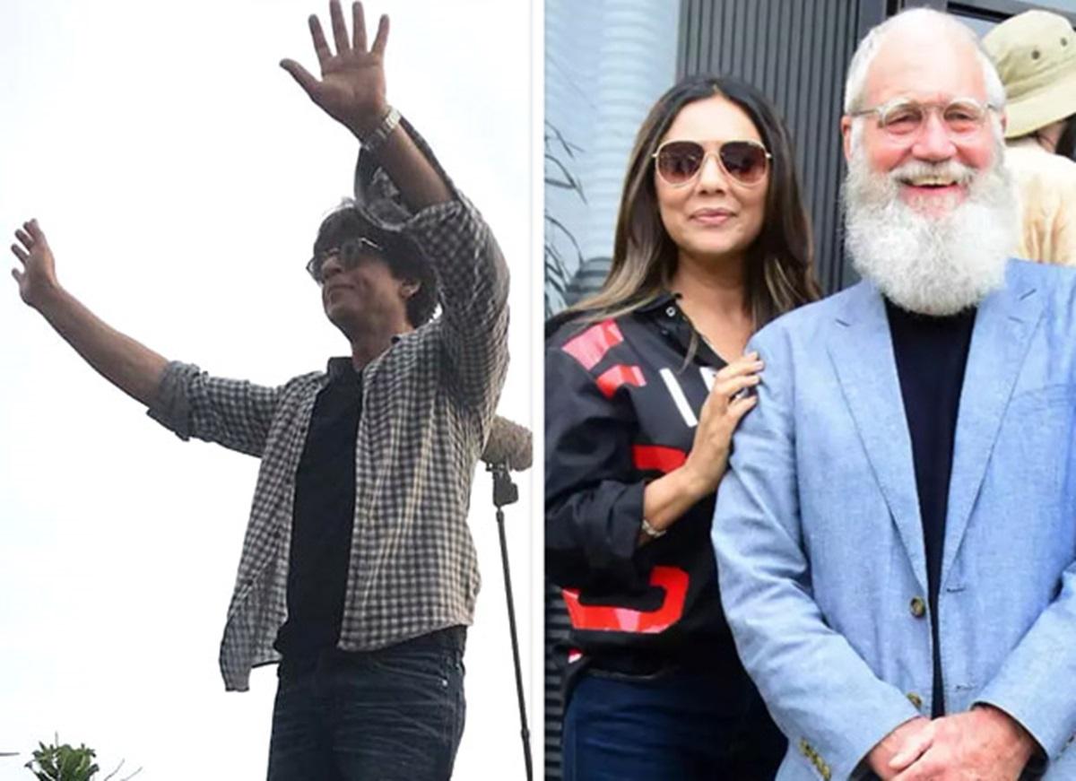 Watch Shah Rukh Khan climb up on his car to greet fans post a shoot in Mumbai