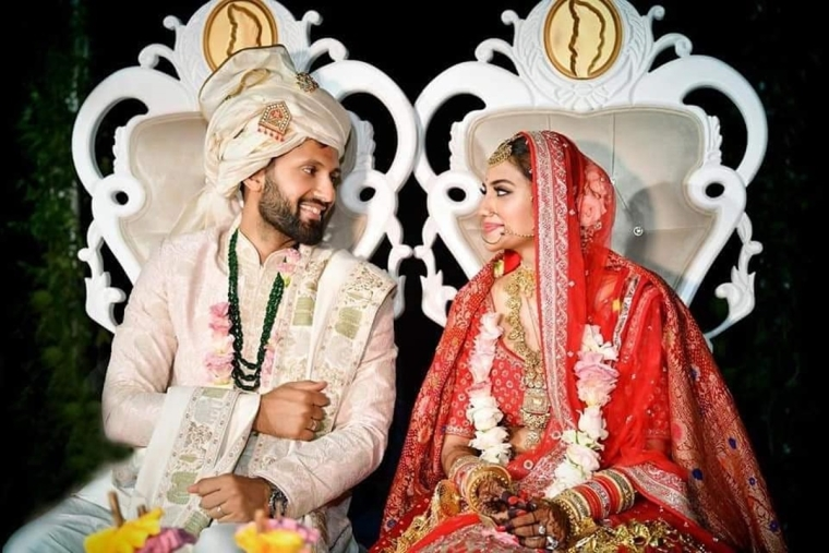 Image result for nusrat jahan marriage photo