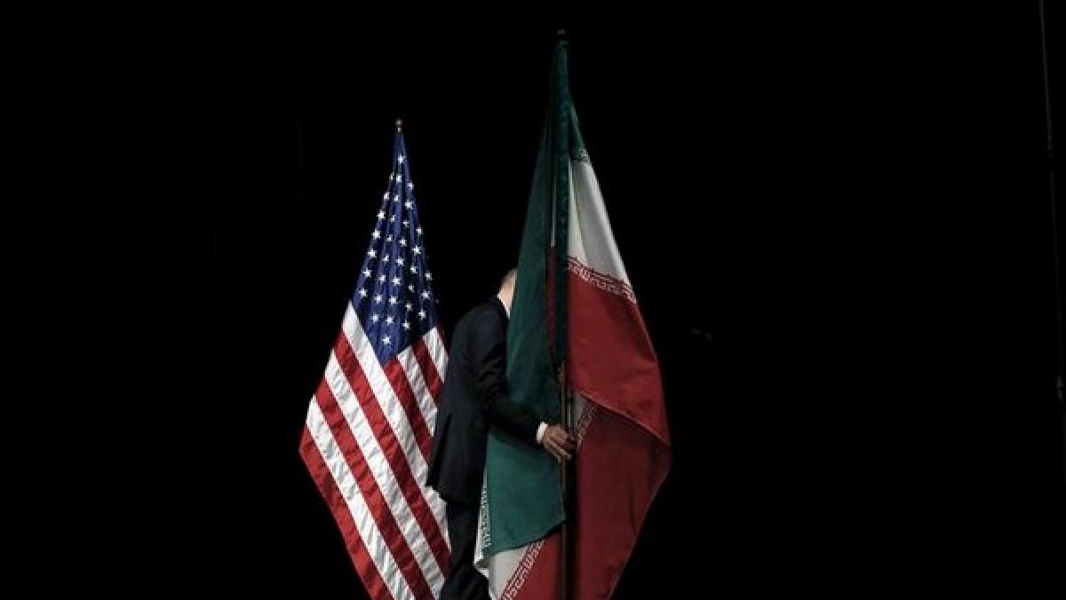 Iran and US Flag