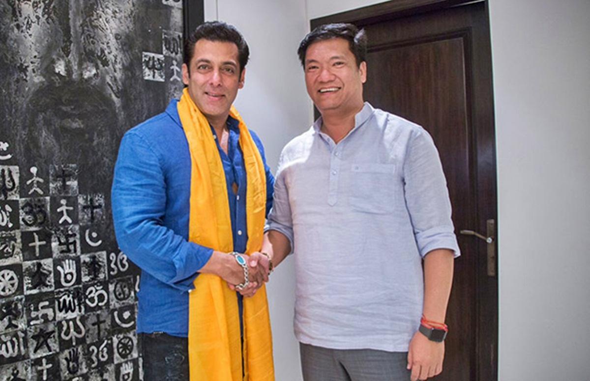Salman Khan the Tourism Ambassador of Arunachal Pradesh meets CM Pema Khandu