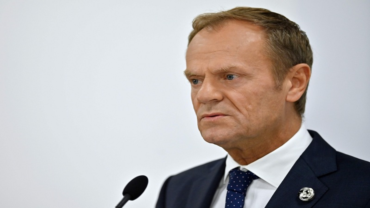 EU's Tusk lashes out at Putin on democracy