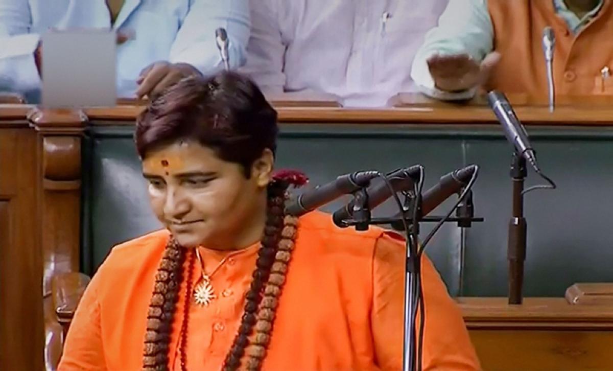 Pragya Thakur creates row with her name while taking oath at 17th Lok Sabha session