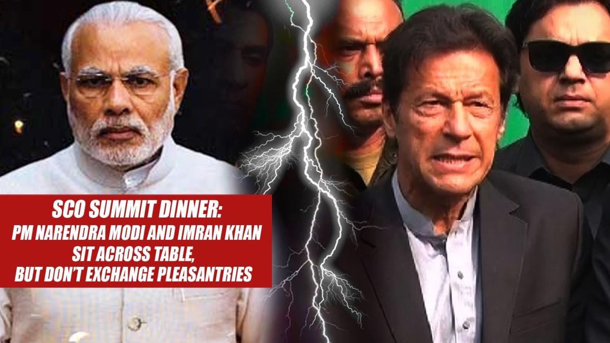 SCO summit dinner: PM Narendra Modi and Imran Khan sit across table, but don't exchange pleasantries
